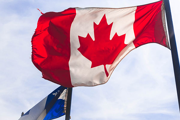 canada and quebec flag